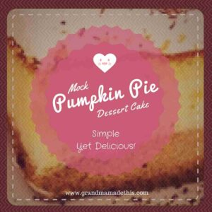 Mock Pumpkin Pie Dessert