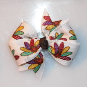 Thanksgiving Fall Petite Quad HairBows