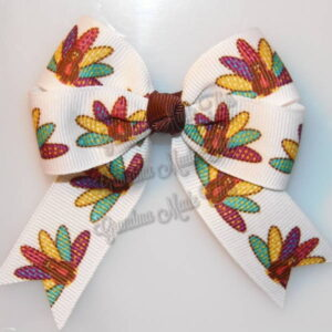 Thanksgiving Fall Long Tails Hair Bows