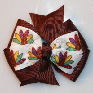 Thanksgiving Fall Stacked Hair Bows