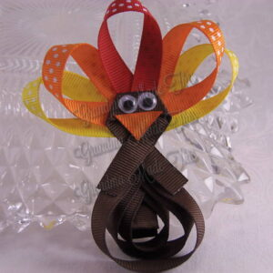 Turkey Ribbon Sculpture Hair Clips Simple