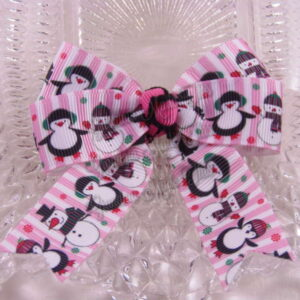 Winter Long Tail Quad Hair Bows