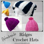 Easy Quick Ridge Crochet Hat Free Pattern