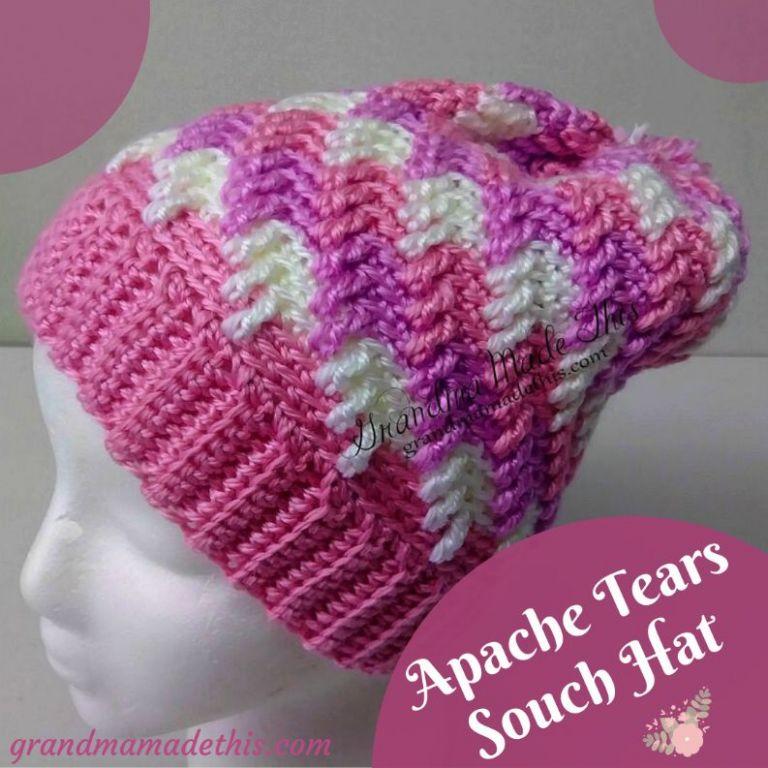 Apache Tears Slouch Crochet Hat