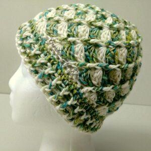 Divine Textured Crochet Hat Green