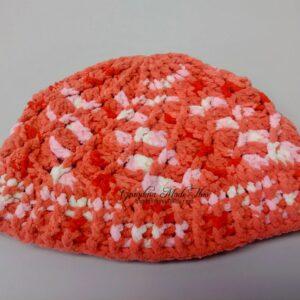 Divine Textured Crochet Hat Orange