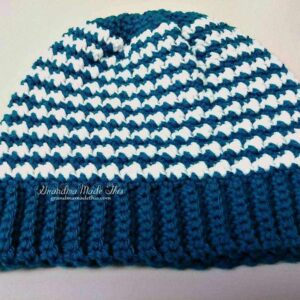 Hounds Tooth Crochet Hat
