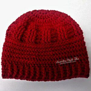Mixed Stitch Textured Crochet Hat