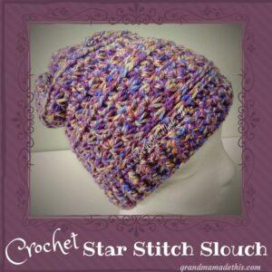 Star Stitch Textured Slouch Crochet Hat
